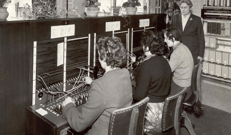 Bainbridge interior telephone exchange