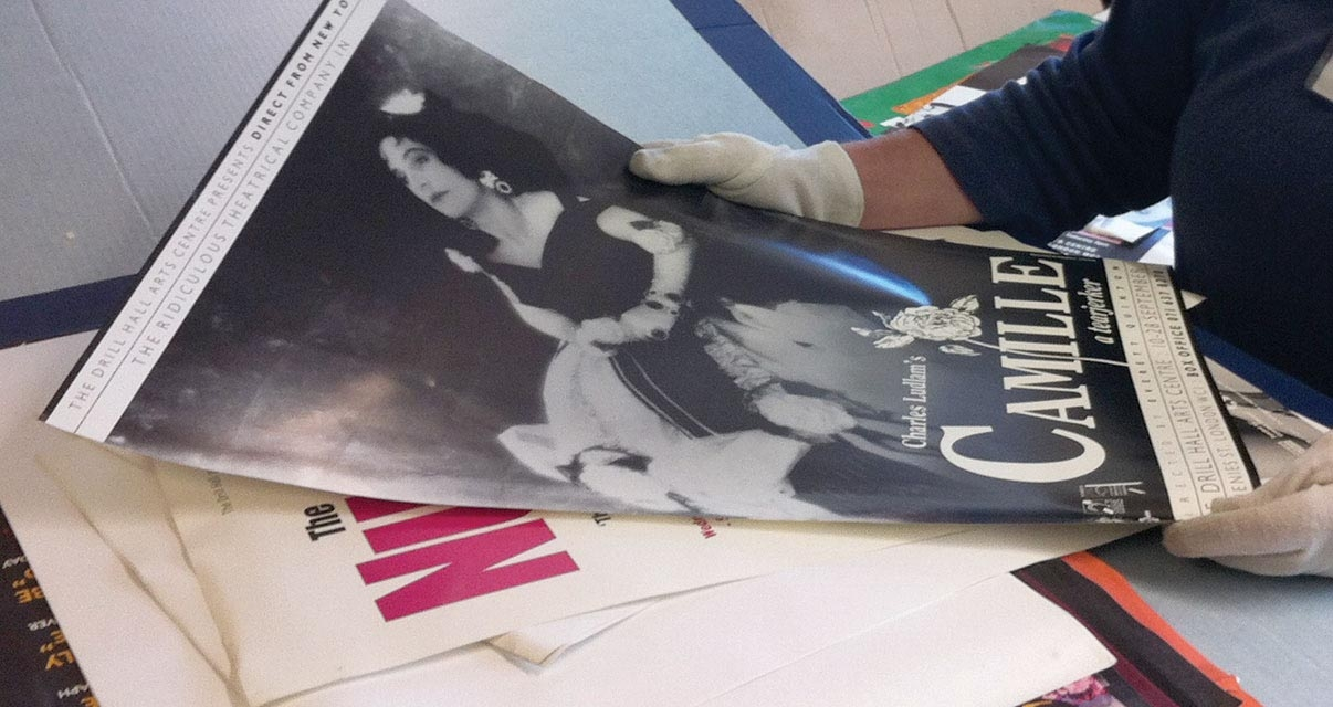 Central London Arts Limited posters sorting - Courtesy of London Metropolitan Archives